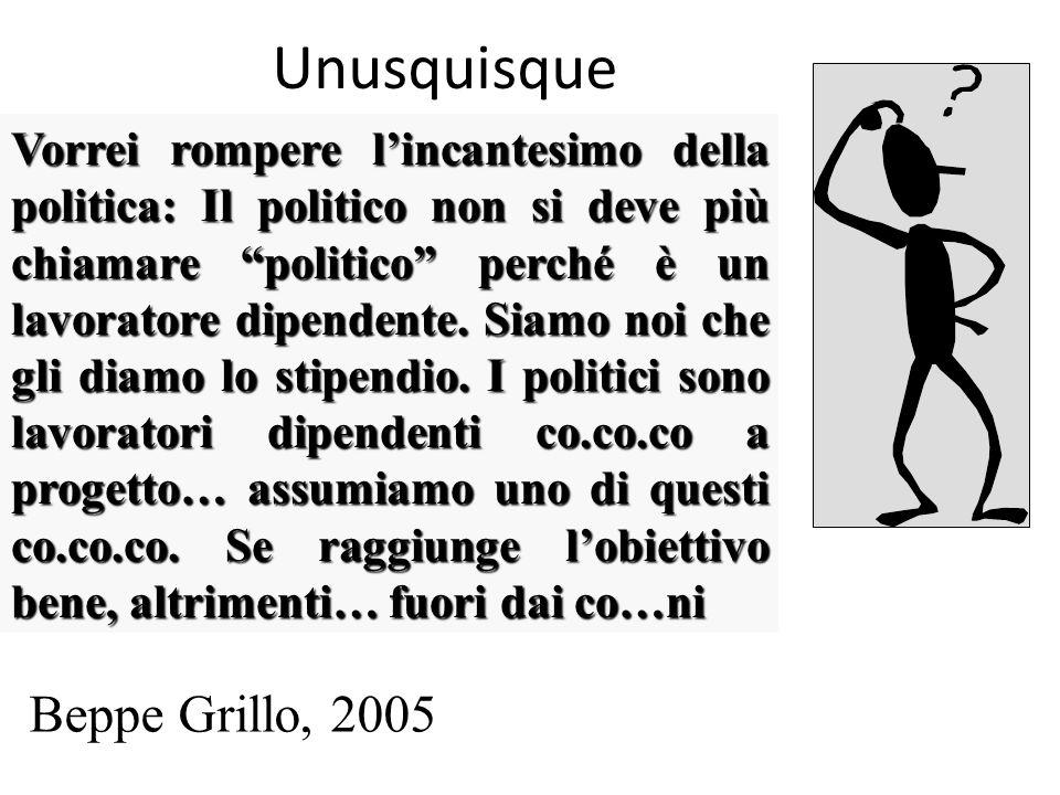Unusquisque Beppe Grillo, 2005