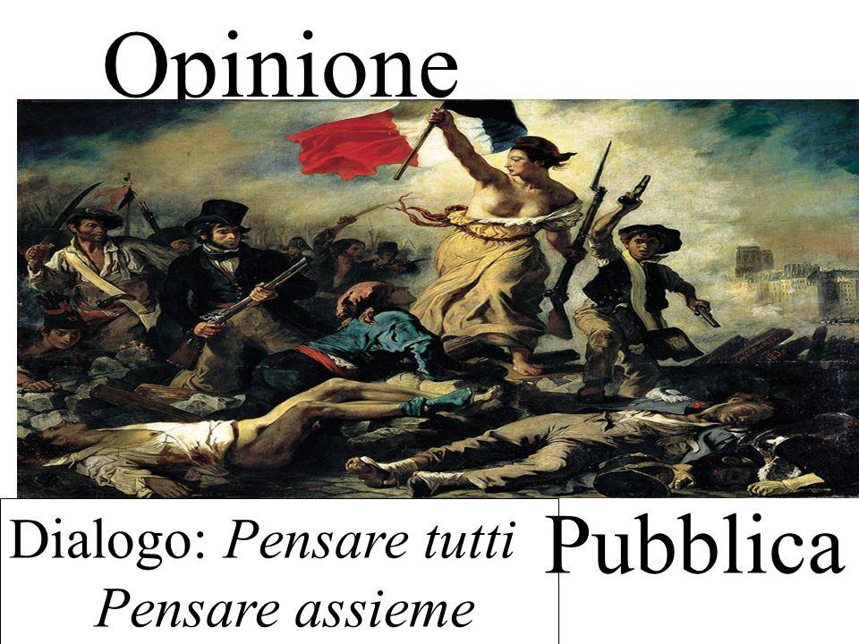 Opinione Pubblica Dialogo: Pensare tutti Pensare assieme