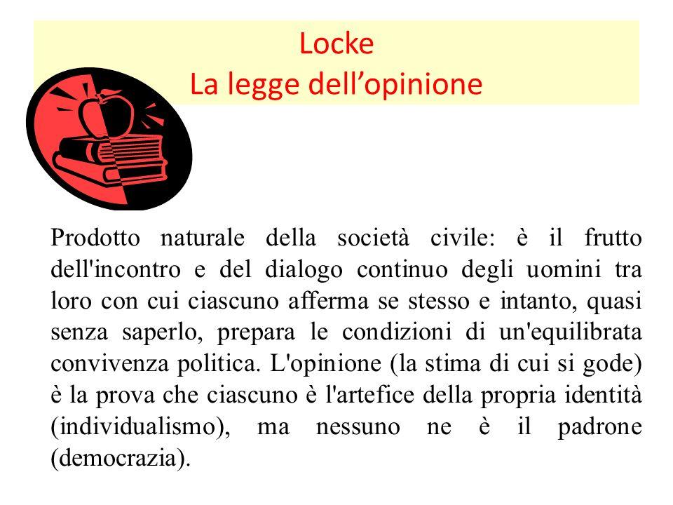 Locke La legge dell'opinione