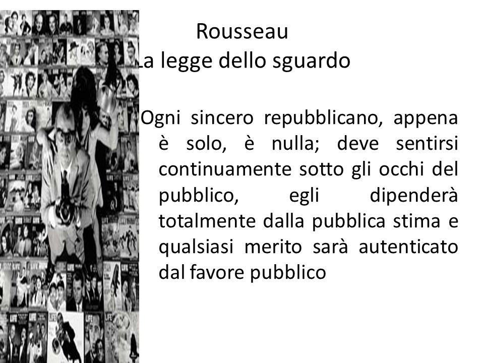 Rousseau La legge dello sguardo