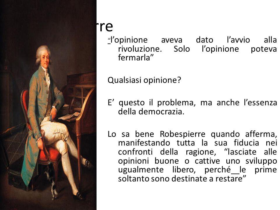 Robespierre Qualsiasi opinione