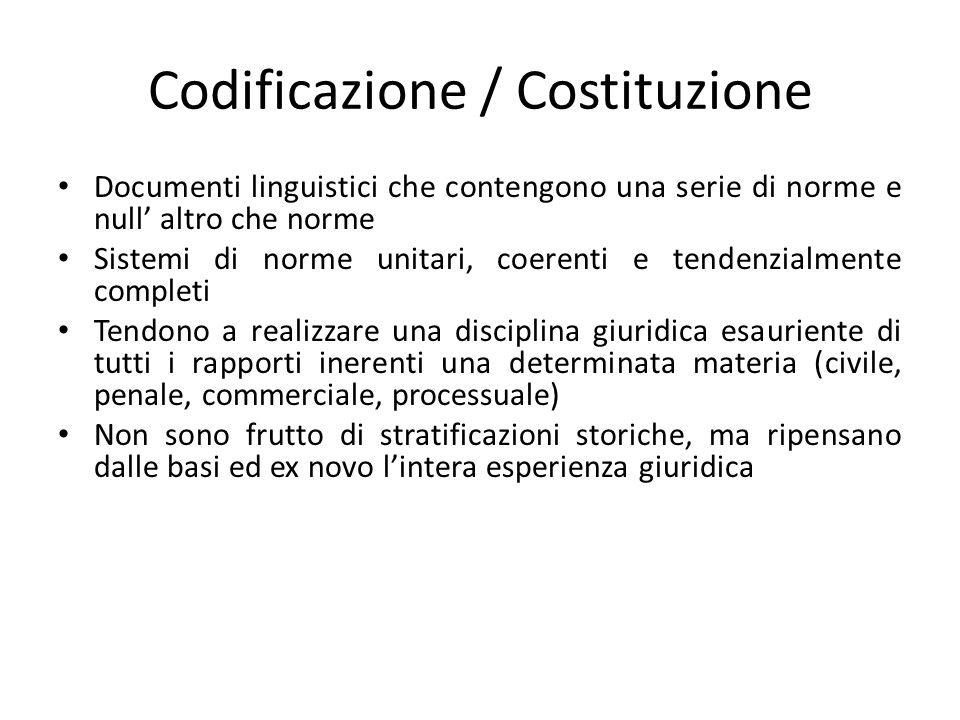 Codificazione / Costituzione