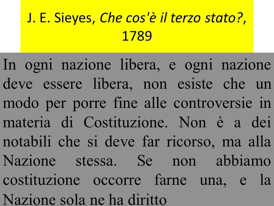J. E. Sieyes, Che cos è il terzo stato , 1789