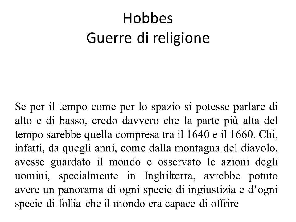Hobbes Guerre di religione