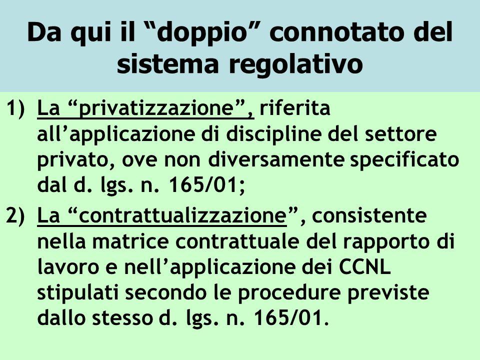 Da qui il doppio connotato del sistema regolativo