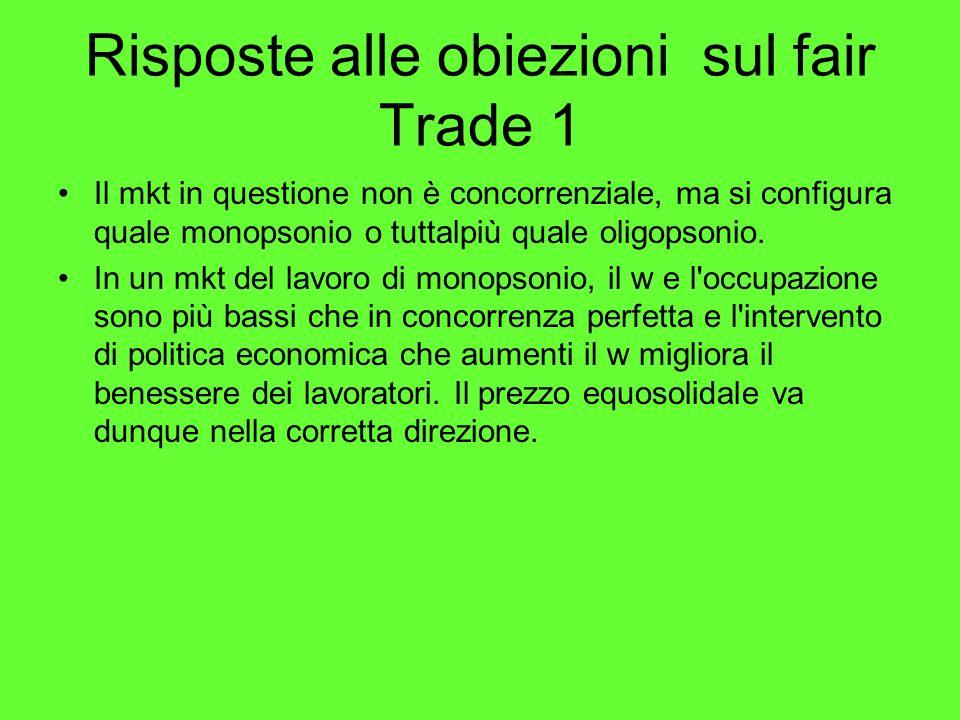 Risposte alle obiezioni sul fair Trade 1