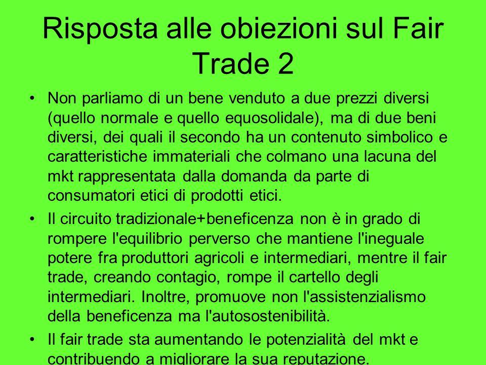 Risposta alle obiezioni sul Fair Trade 2