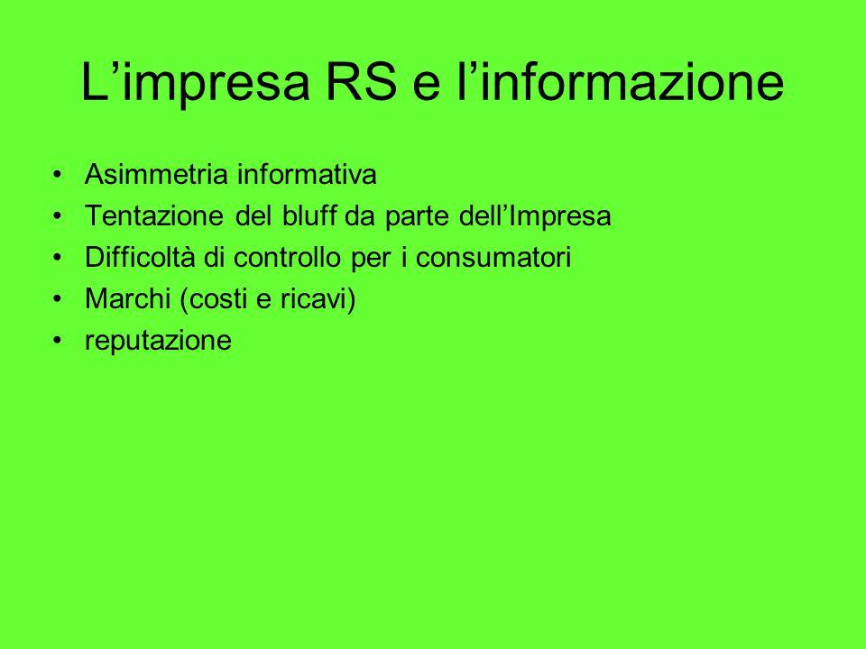 L'impresa RS e l'informazione
