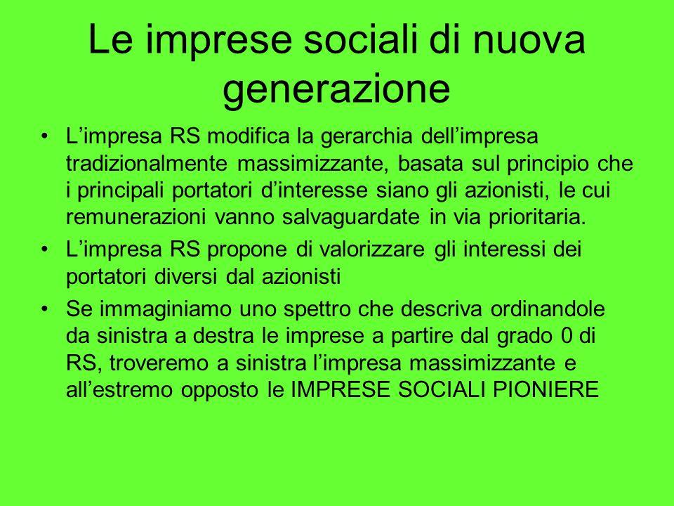 Le imprese sociali di nuova generazione