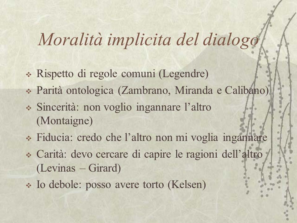 Moralità implicita del dialogo