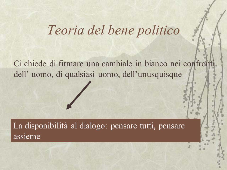 Teoria del bene politico