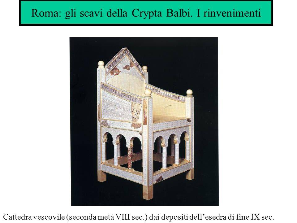 Roma: gli scavi della Crypta Balbi. I rinvenimenti