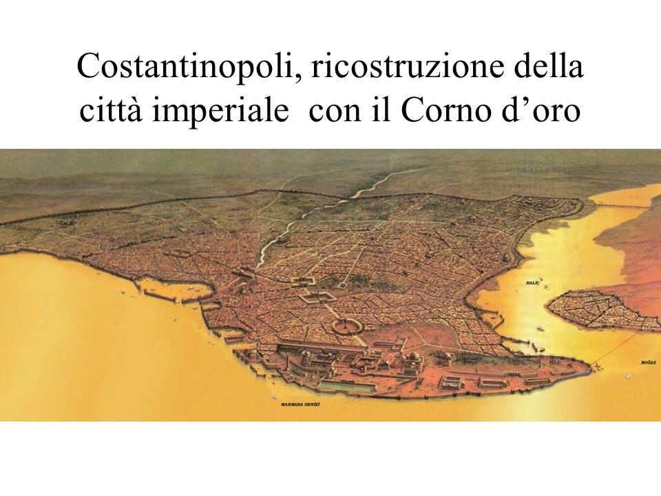 Costantinopoli, ricostruzione della città imperiale con il Corno d'oro