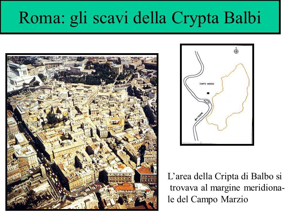 Roma: gli scavi della Crypta Balbi