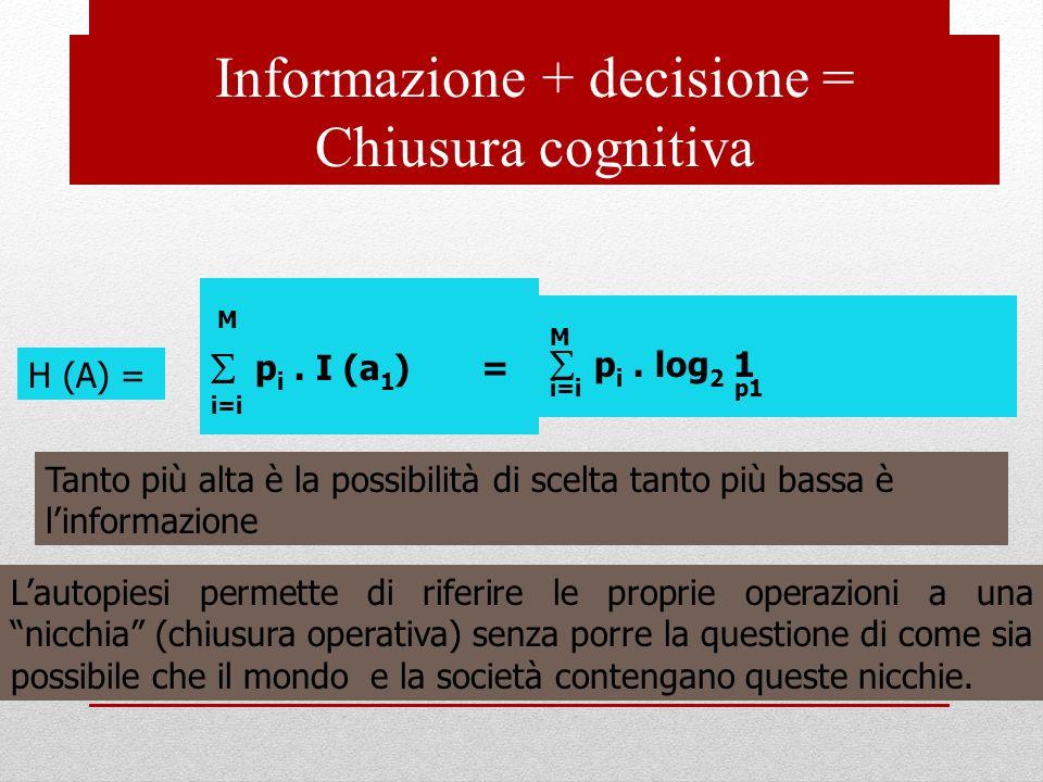Informazione + decisione =