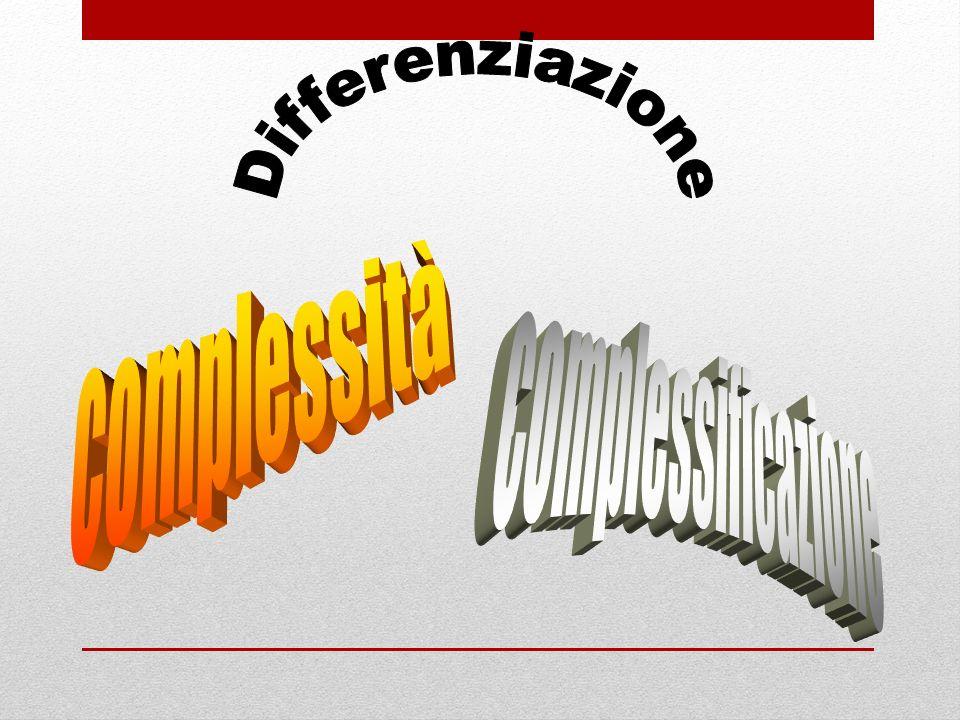 Differenziazione complessità complessificazione