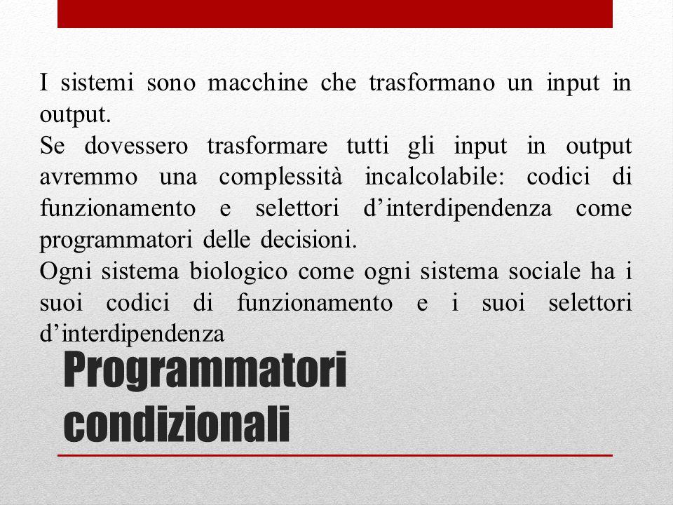 Programmatori condizionali