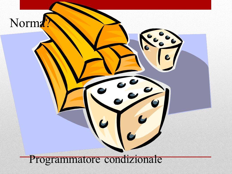 Norma Programmatore condizionale