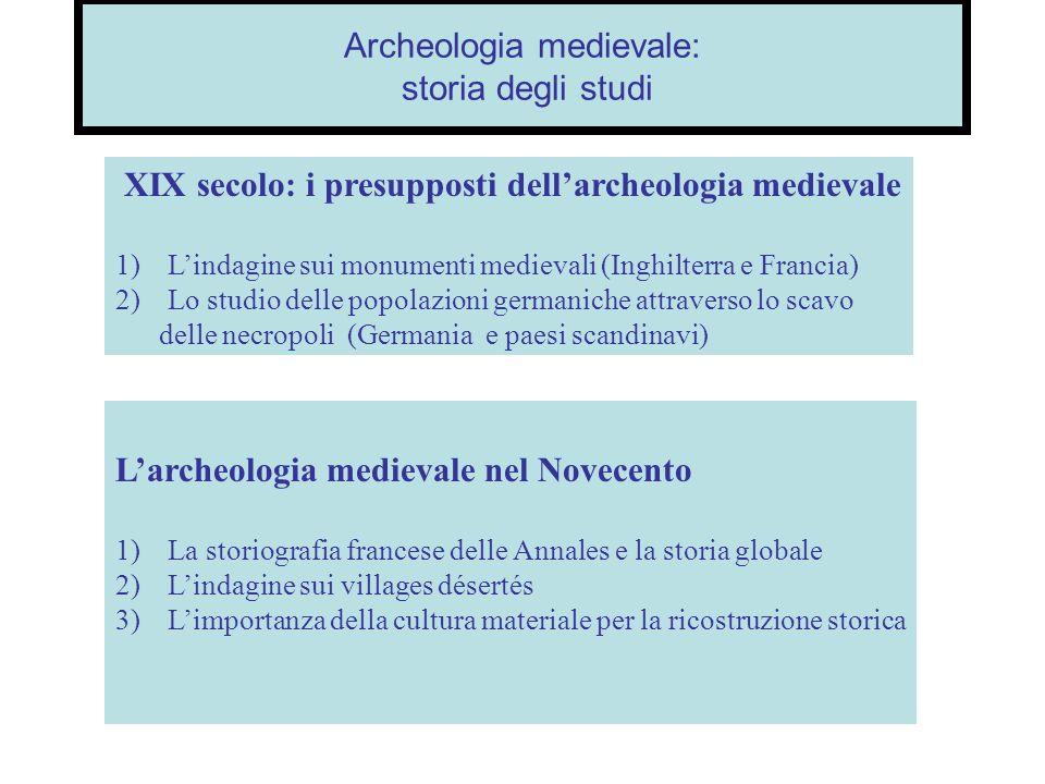 Archeologia medievale: storia degli studi