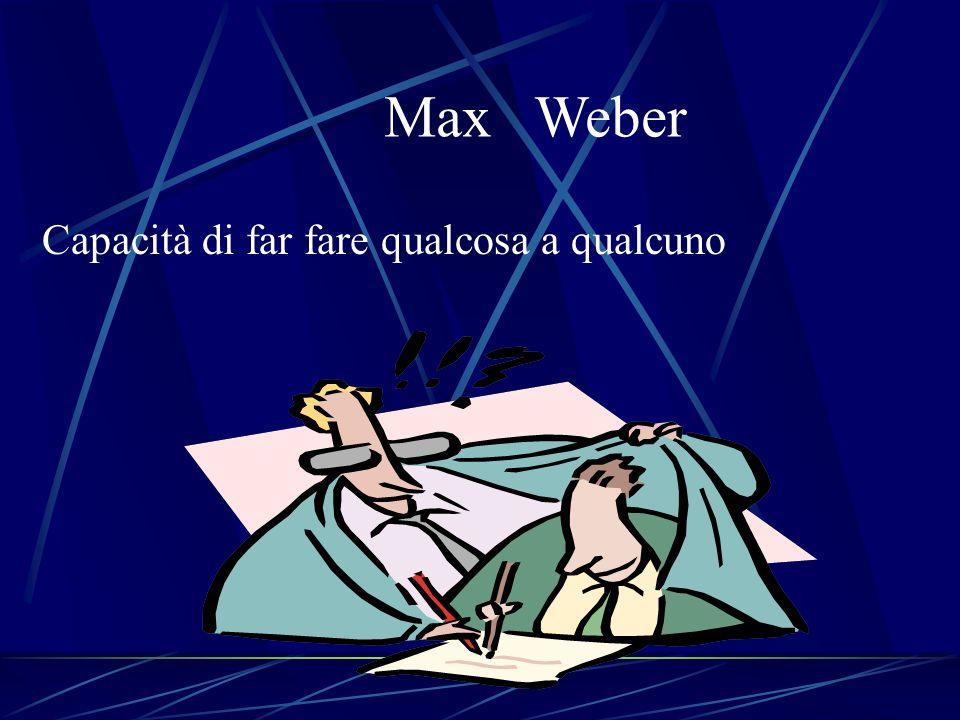 Max Weber Capacità di far fare qualcosa a qualcuno