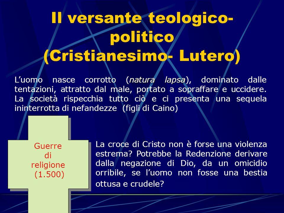 Il versante teologico-politico (Cristianesimo- Lutero)