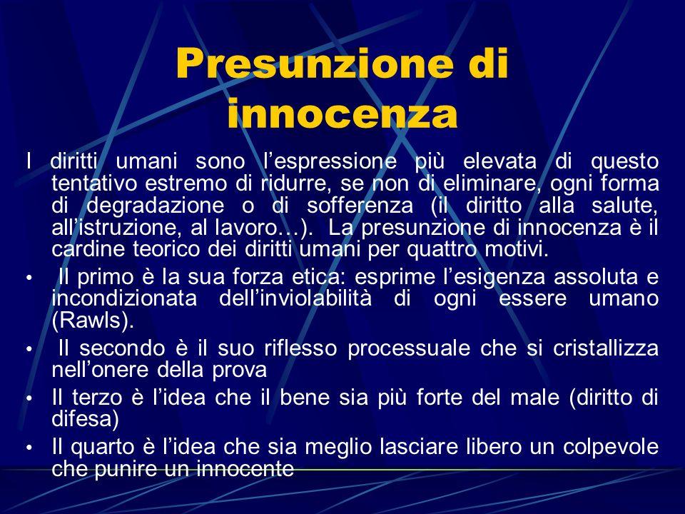Presunzione di innocenza