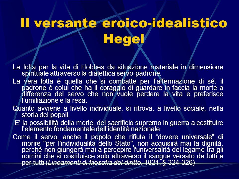 Il versante eroico-idealistico Hegel