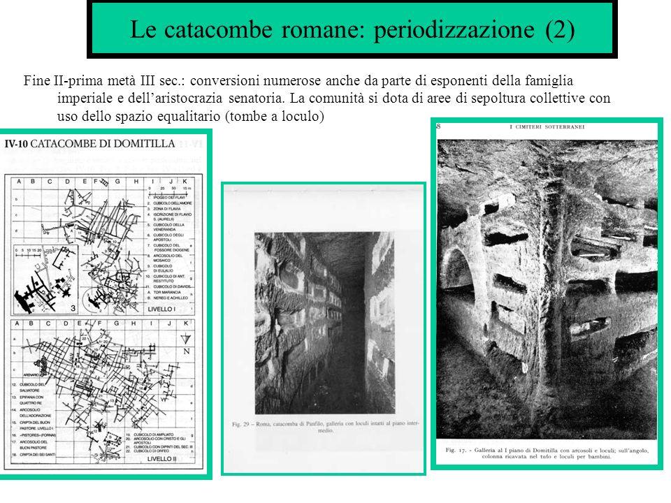 Le catacombe romane: periodizzazione (2)
