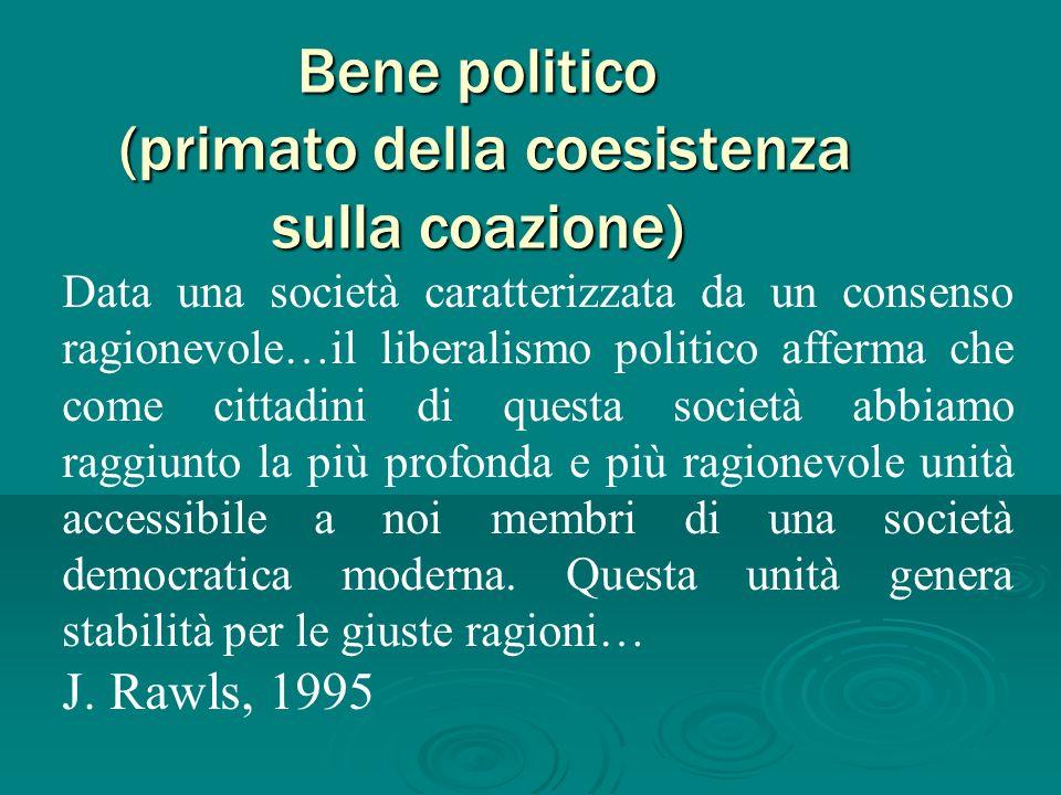 Bene politico (primato della coesistenza sulla coazione)