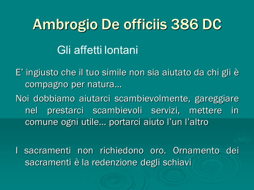 Ambrogio De officiis 386 DC