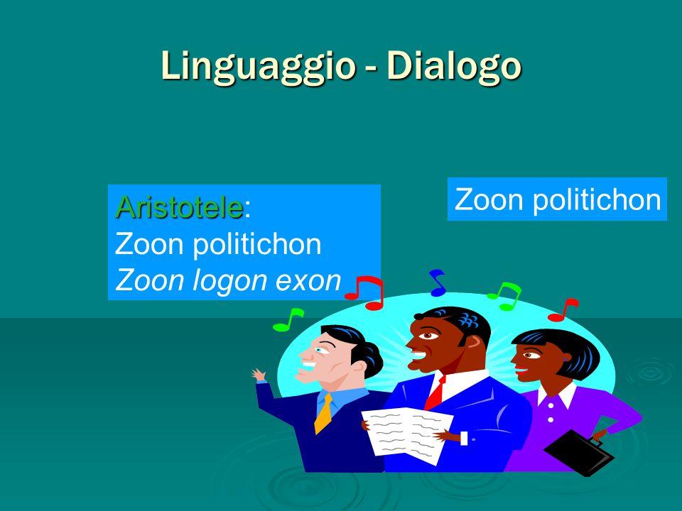 Linguaggio - Dialogo Zoon politichon Aristotele: Zoon politichon