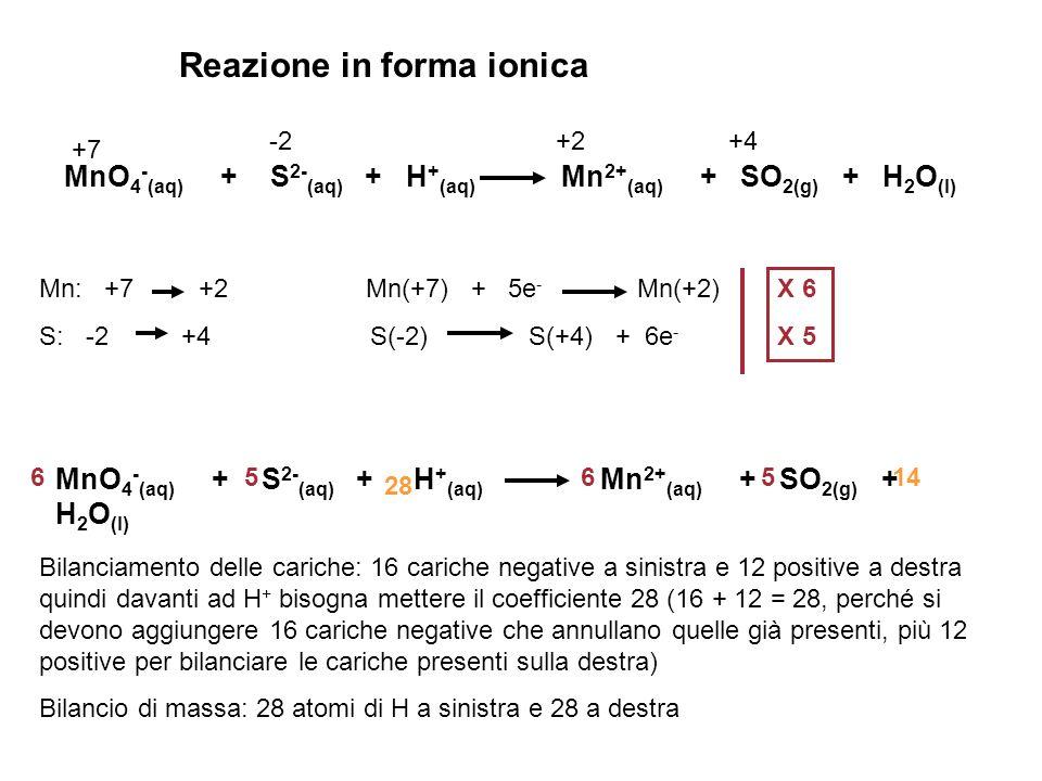 Reazione in forma ionica