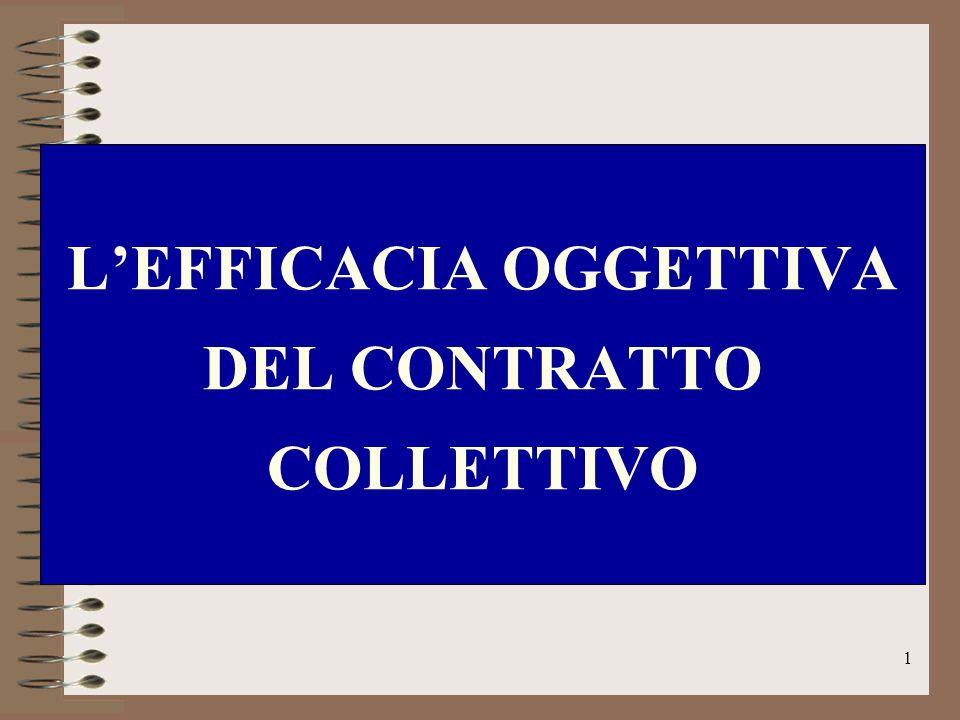 L'EFFICACIA OGGETTIVA DEL CONTRATTO COLLETTIVO