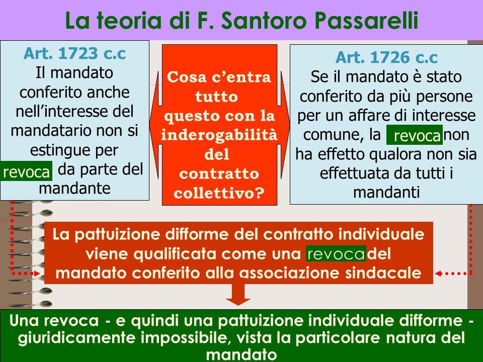 La teoria di F. Santoro Passarelli
