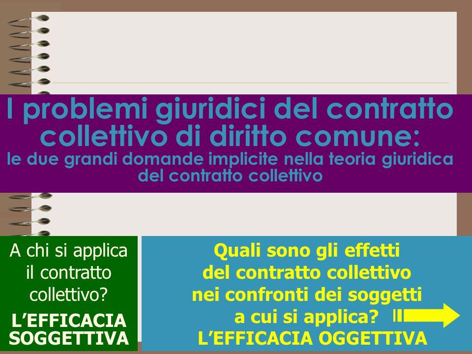 I problemi giuridici del contratto collettivo di diritto comune: