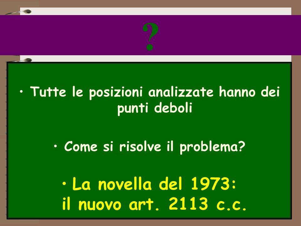 La novella del 1973: il nuovo art. 2113 c.c.