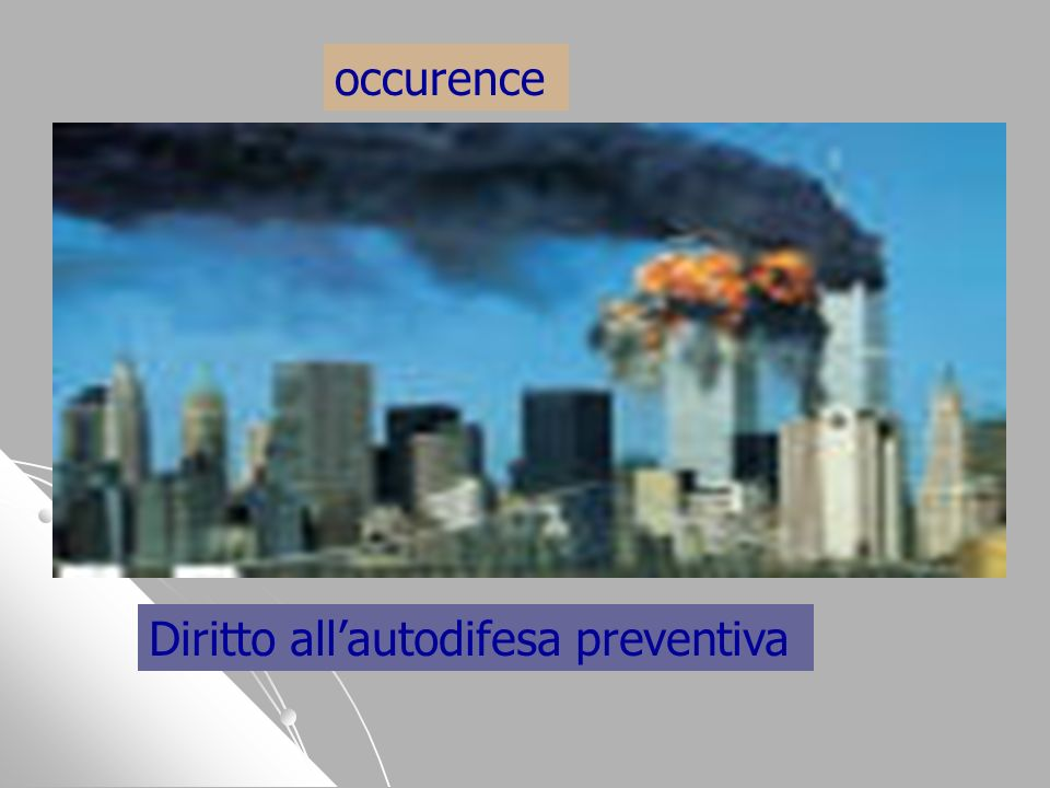 occurence Diritto all'autodifesa preventiva