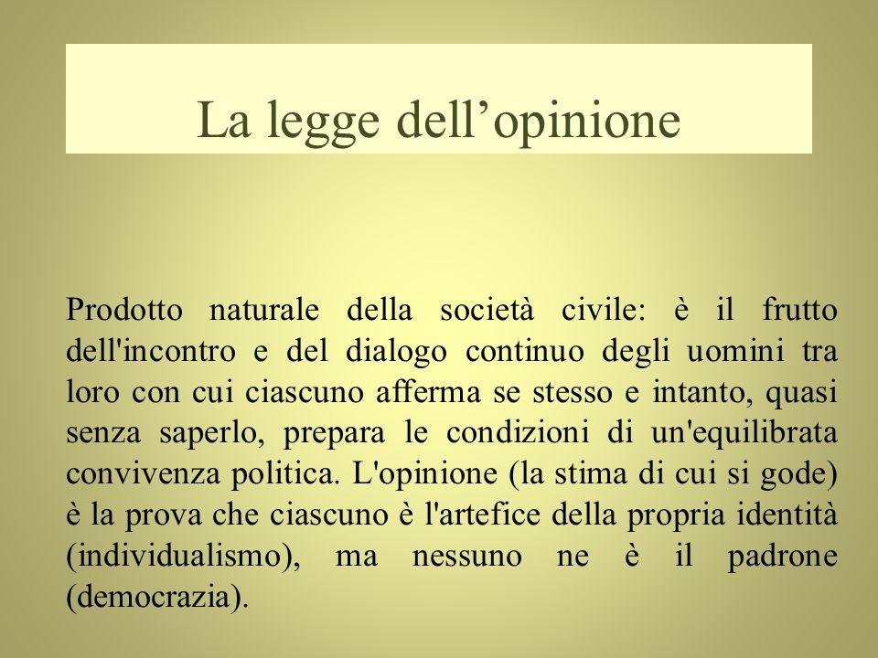 La legge dell'opinione