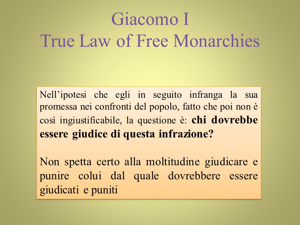 Giacomo I True Law of Free Monarchies