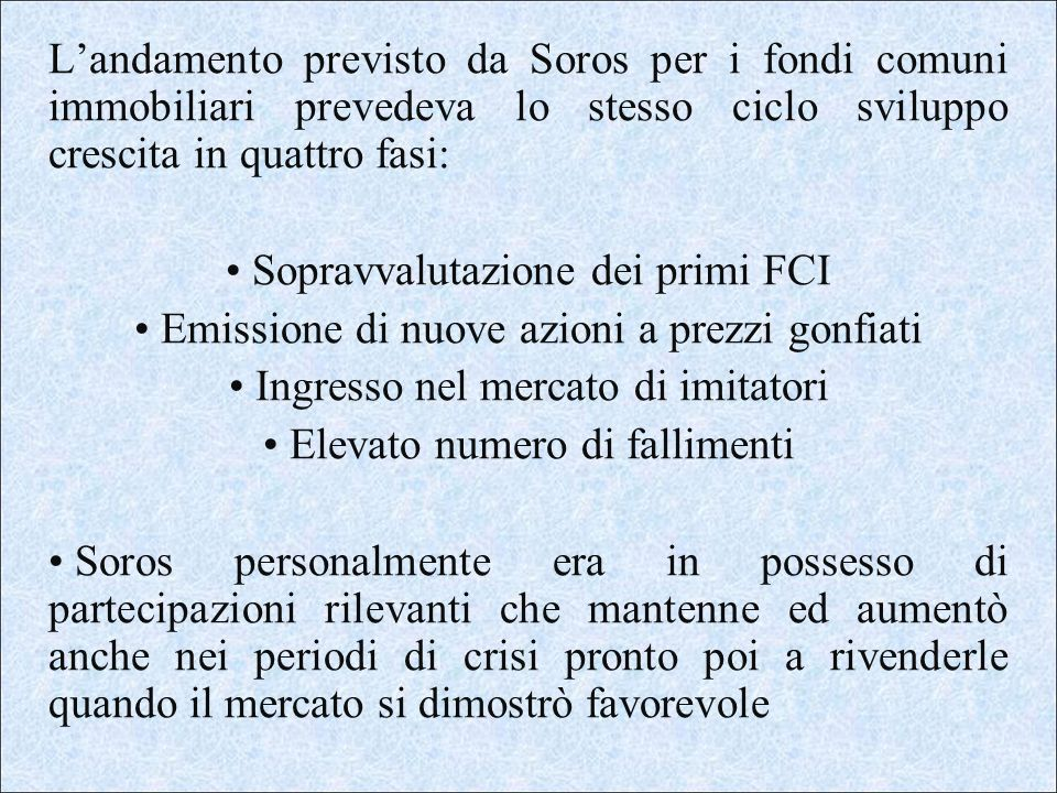 Sopravvalutazione dei primi FCI
