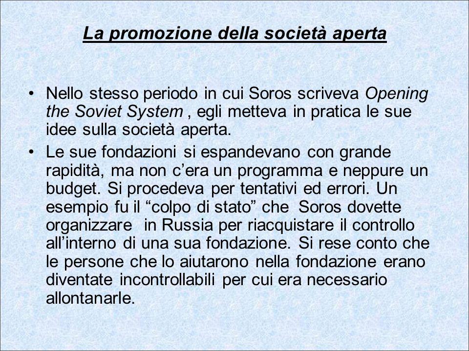 La promozione della società aperta