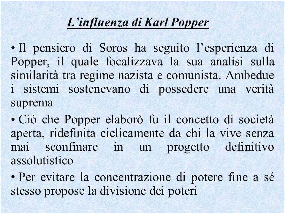 L'influenza di Karl Popper