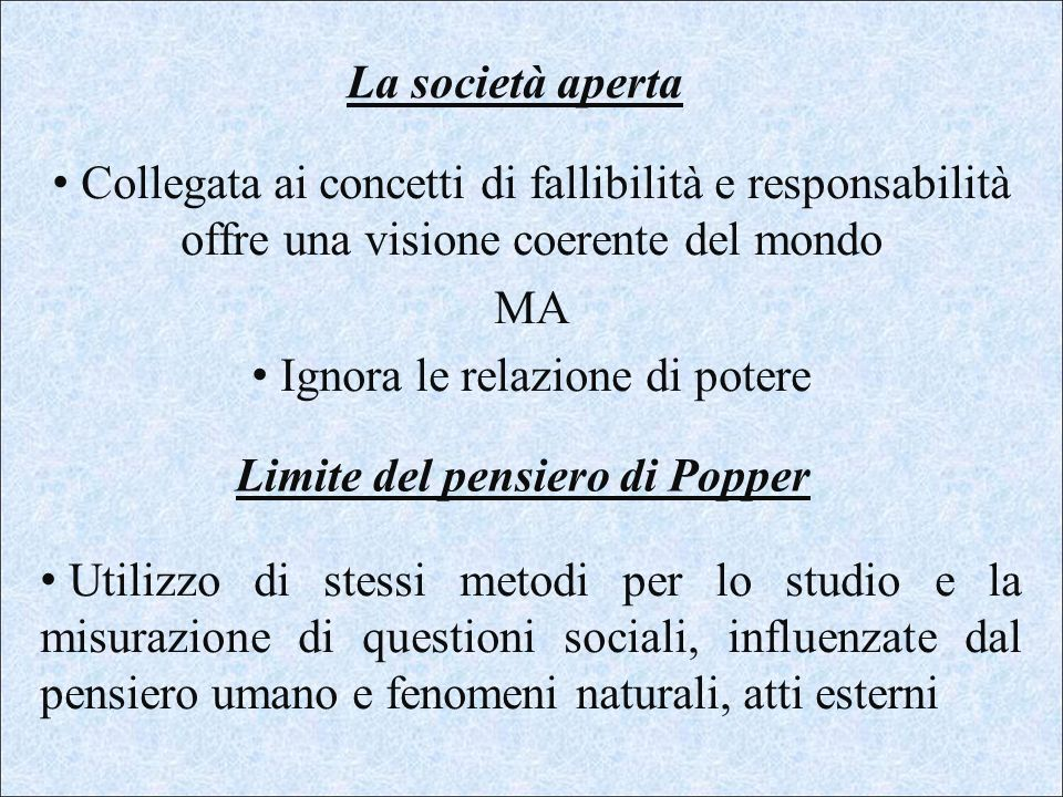 Limite del pensiero di Popper
