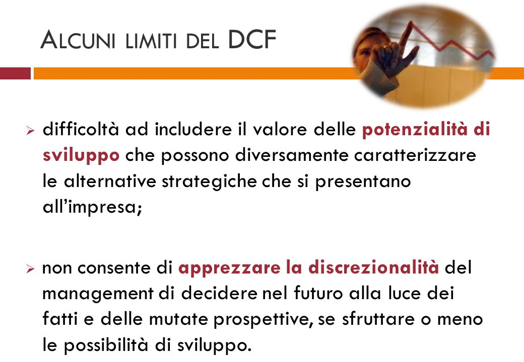 Alcuni limiti del DCF