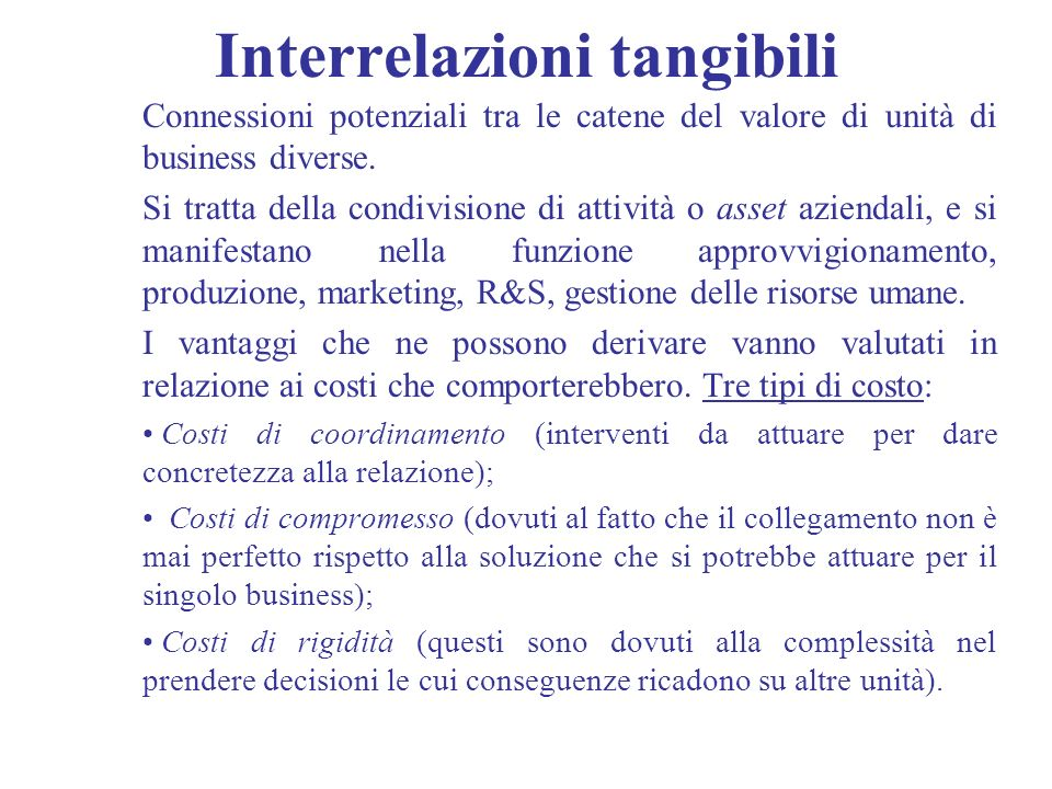 Interrelazioni tangibili