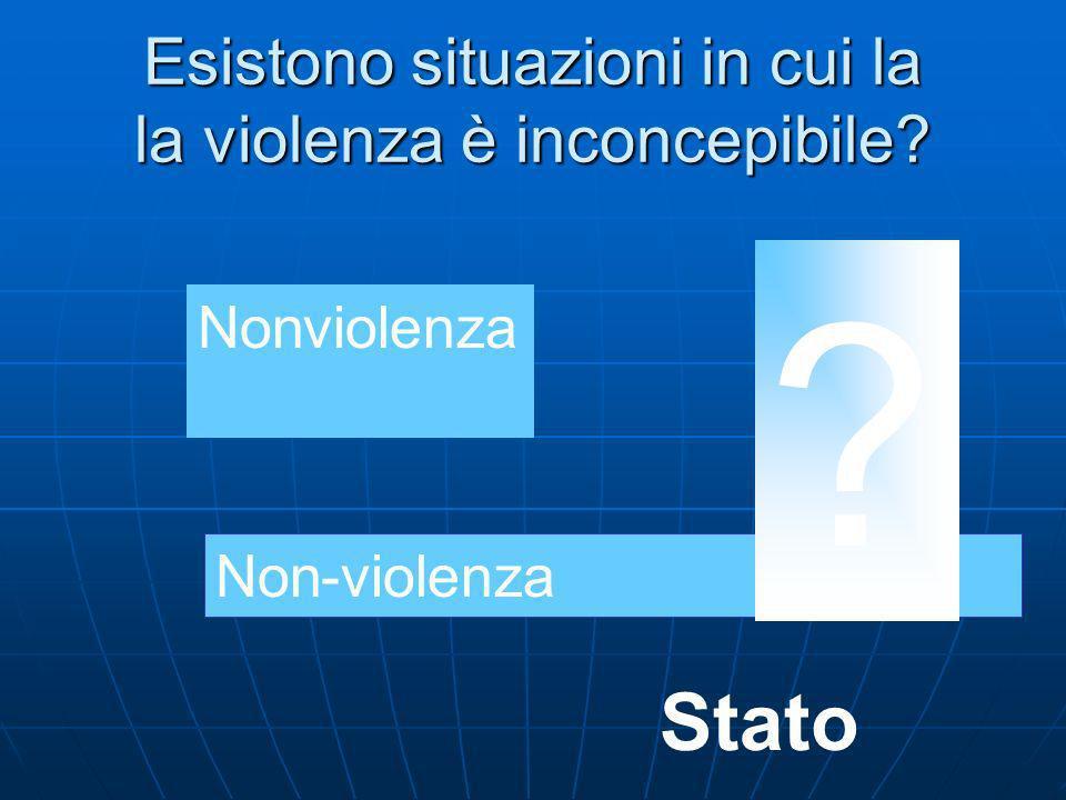 Esistono situazioni in cui la la violenza è inconcepibile