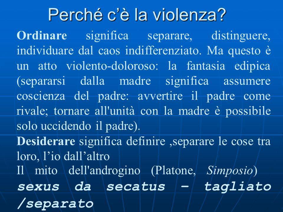 Perché c'è la violenza