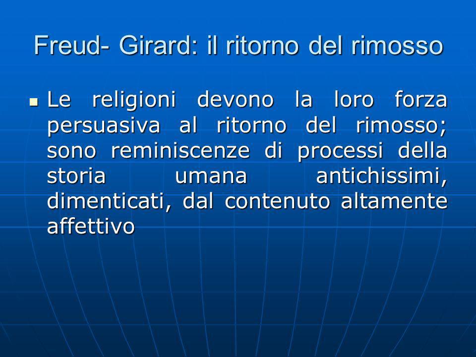Freud- Girard: il ritorno del rimosso