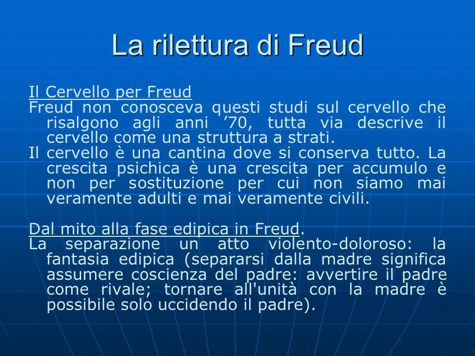 La rilettura di Freud Il Cervello per Freud