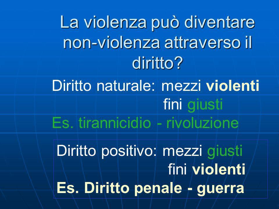 La violenza può diventare non-violenza attraverso il diritto